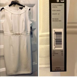 Tahari ASL Ivory Dress
